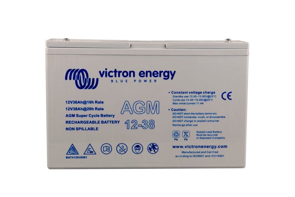 Akumulátor Victron Energy AGM Super Cycle 12V, 38Ah C20
