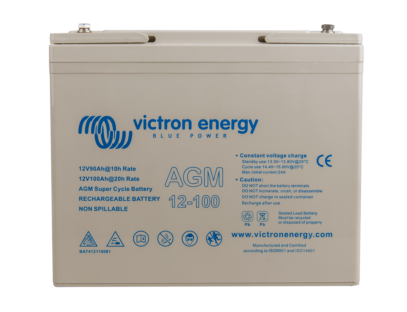 Akumulátor Victron Energy AGM Super Cycle 12V, 100Ah C20