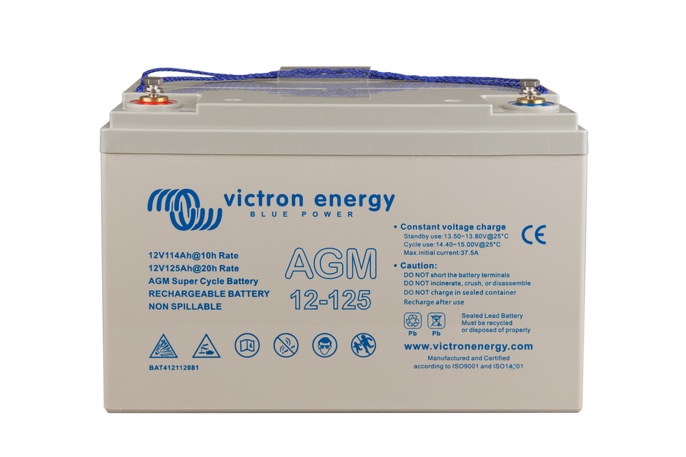 Akumulátor Victron Energy AGM Super Cycle 12V, 125Ah C20