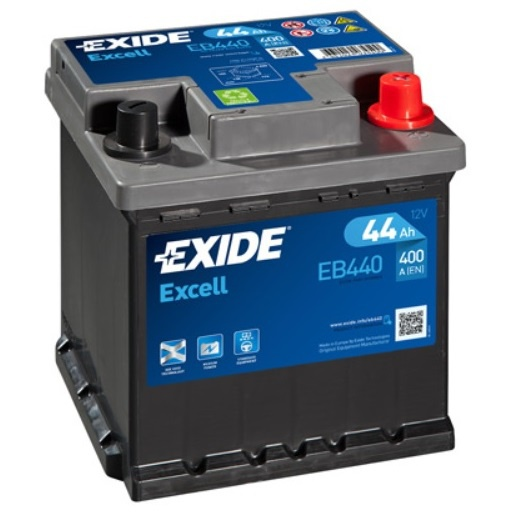 Autobaterie EXIDE Excell 44Ah, 12V, 400A, EB440