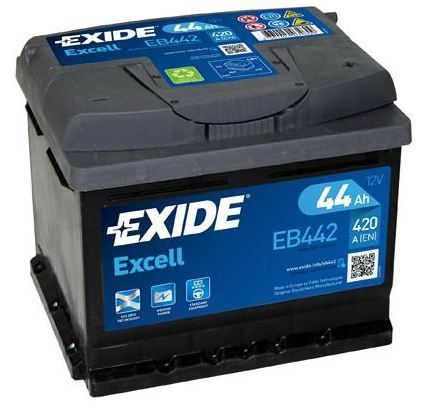 Autobaterie EXIDE Excell 44Ah, 12V, 420A, EB442