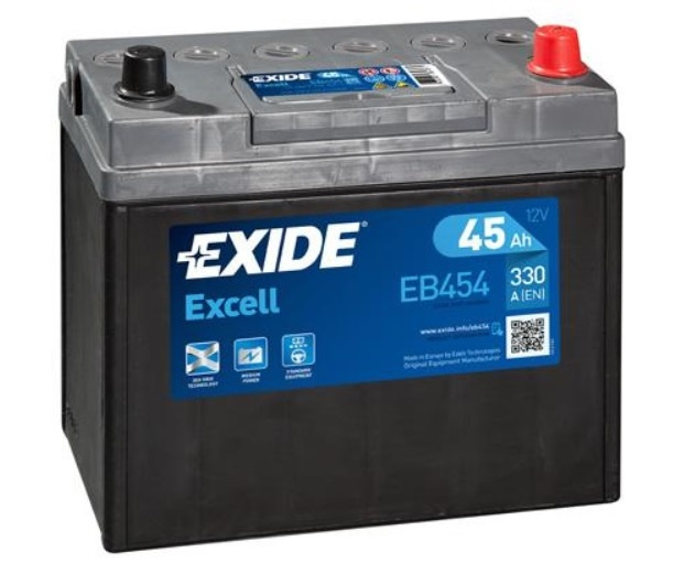 Autobaterie EXIDE Excell 45Ah, 12V, 330A, EB454
