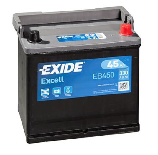 Autobaterie EXIDE Excell 45Ah, 12V, 330A, EB450