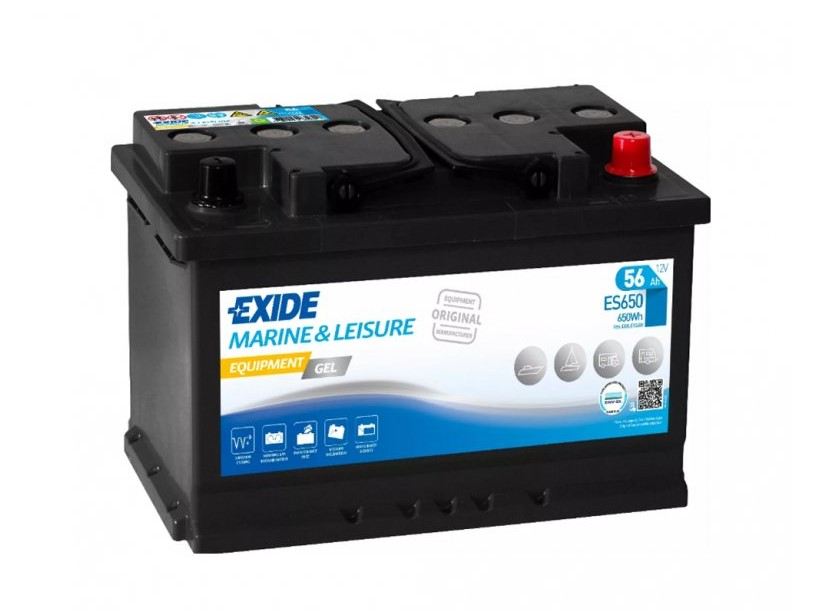 Trakční baterie EXIDE EQUIPMENT GEL ES650, 56Ah, 12V