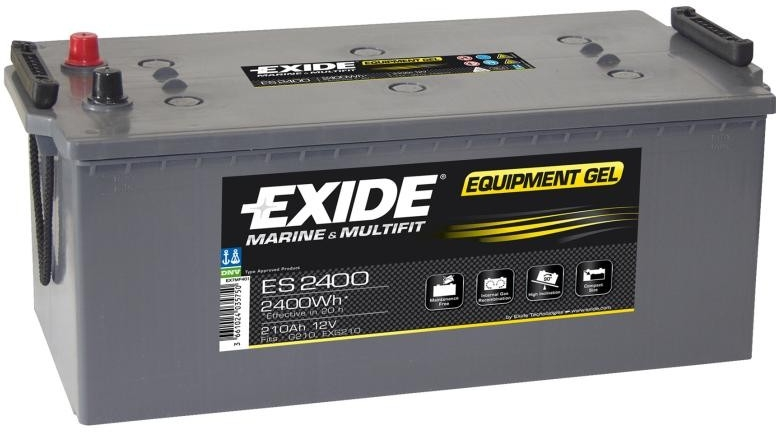 Trakční baterie EXIDE EQUIPMENT GEL ES2400, 210Ah, 12V, 2400Wh