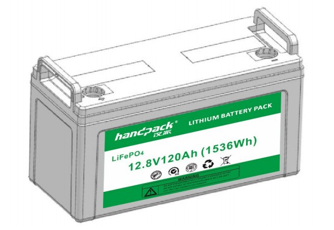 HandPack baterie LiFePO4 - 12.8V120Ah LiFePO4 Baterie 1536Wh